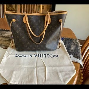 Authentic Louis Vuitton Neverfull Monogram Mm Tote